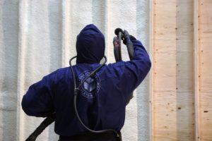 spraying home insulation